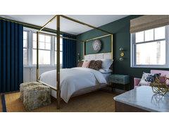 Femenine glamour bedroom Rendering thumb
