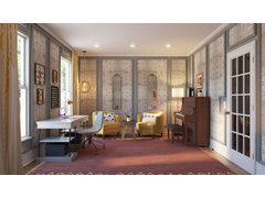 Eclectic Music Room Rendering thumb