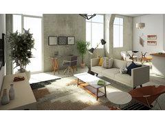 Amazing scandinavian living/dining room  Rendering thumb
