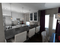 Classy and Functional Kitchen Design Rendering thumb