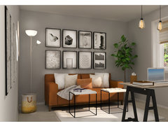 Multifunctional Small Home Office  Rendering thumb