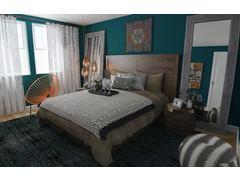 Eclectic Stylish Bedroom Rendering thumb