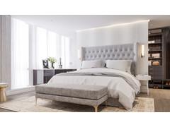 Bright and Modern Master Bedroom & Closet Design Rendering thumb