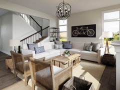 Modern Farmhouse Living/Dining Room Rendering thumb