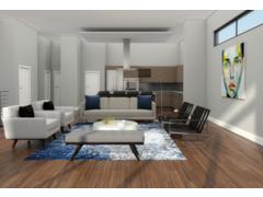 Modern Living Kitchen Transformation Rendering thumb