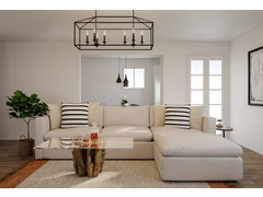 Eclectic and Modern Living Room Rendering thumb