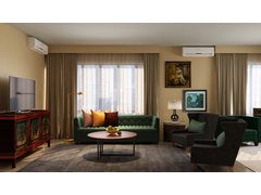 Bold Transitional Living Room Rendering thumb