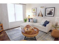 White Coastal Small Living Room Rendering thumb