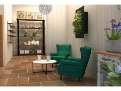 Beautiful flower shop transformation Rendering thumb