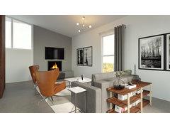 Clean, Simple Living Room Rendering thumb