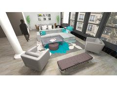 Flatiron Loft Living Room Design Rendering thumb