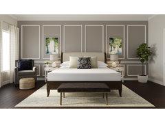 Calm Transitional Bedroom Design Rendering thumb