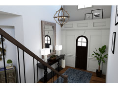 White Transitional Entry Way Rendering thumb
