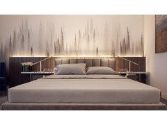 Boutique Hotel Bedroom & Bathroom Rendering thumb
