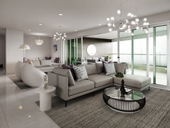 Teal Accents for High End Apartment Rendering thumb