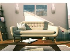 Minimalistic Living Room Design Rendering thumb