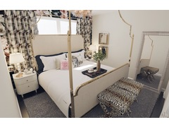 Femenine and Elegant Daughters Room Rendering thumb