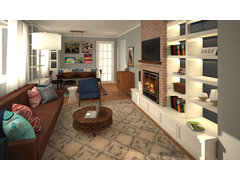 Eclectic Living Room Transformation Rendering thumb
