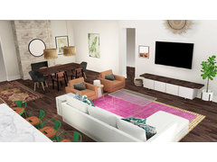 Eclectic Living Room Rendering thumb