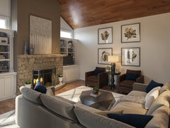 Sophisticated Living/Dining Transformation Rendering thumb