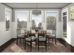 Cozy Traditional Living & Dining Rendering thumb