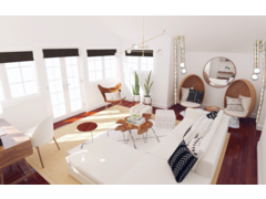 Bright and Modern Living Room Transformation Rendering thumb