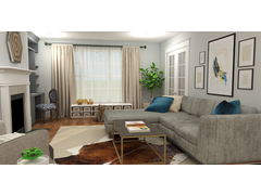 Bright Traditional Family Room Rendering thumb
