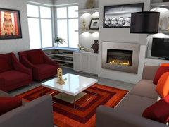 Beautiful, Multi Functional Lounge Design Rendering thumb