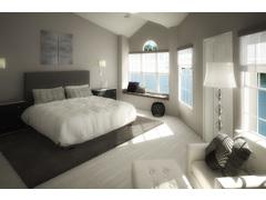 Debbies Classy Black & White Bedroom Design Rendering thumb