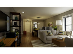Samanthas Rustic Chic Living/Dining Room Design Rendering thumb