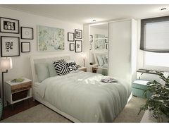 Sophisticated Bedroom Rendering thumb
