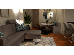 Transitional Living Room and Bedroom Rendering thumb