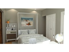Sophisticated Guest Bedroom and Office Rendering thumb