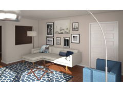 Mid century Modern Living room Rendering thumb