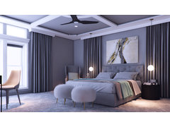 Romantic Master Bedroom Rendering thumb