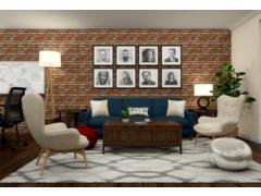Mid century modern office design help Rendering thumb