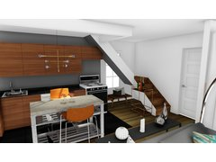 Heidis Trendy Living Space Rendering thumb