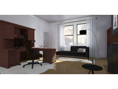 Modern Elegant Home Office Rendering thumb