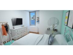 Teal Girls Bedroom Interior Design Online Rendering thumb