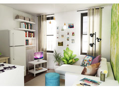 Cozy and Eclectic Studio Design Rendering thumb