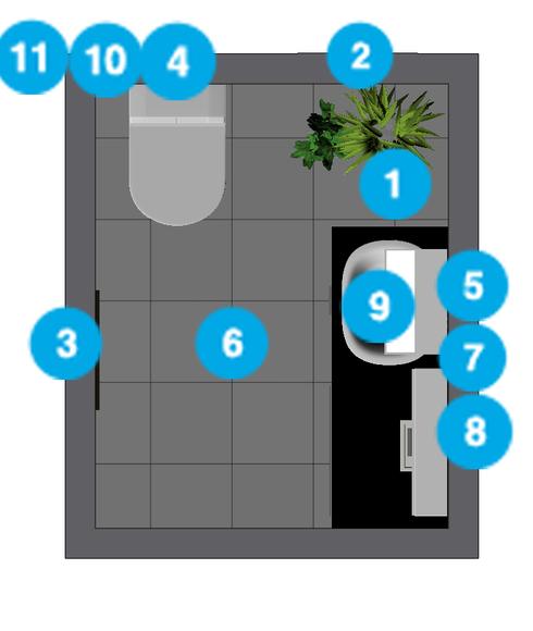 Online Designer Bathroom Floorplan