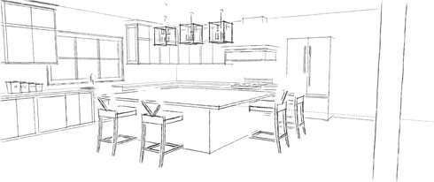 Online Designer Kitchen Floorplan