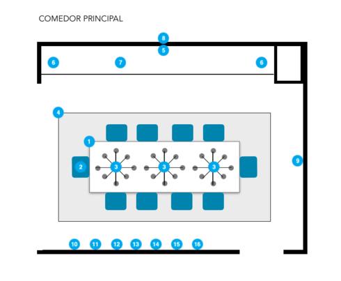 Online Designer Dining Room Floorplan