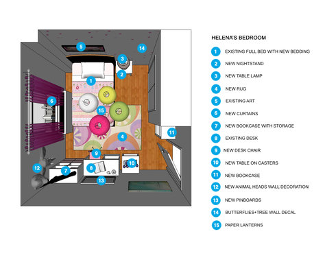 Online Designer Kids Room Floorplan