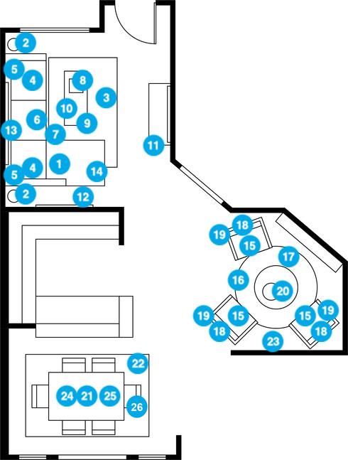 Online Designer Combined Living/Dining Floorplan