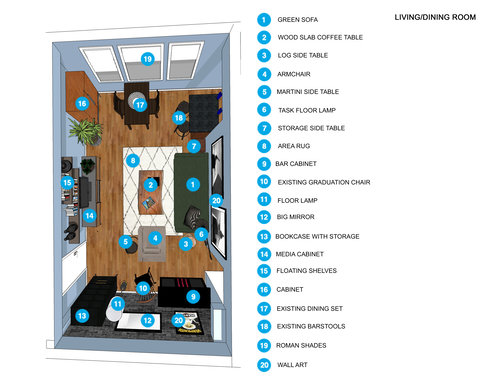 Online Designer Living Room Floorplan