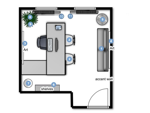 Online Designer Business/Office Floorplan