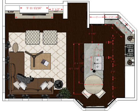 Online Designer Kitchen Floorplan
