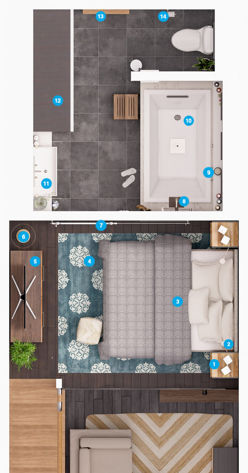 Online Designer Bathroom Floorplan