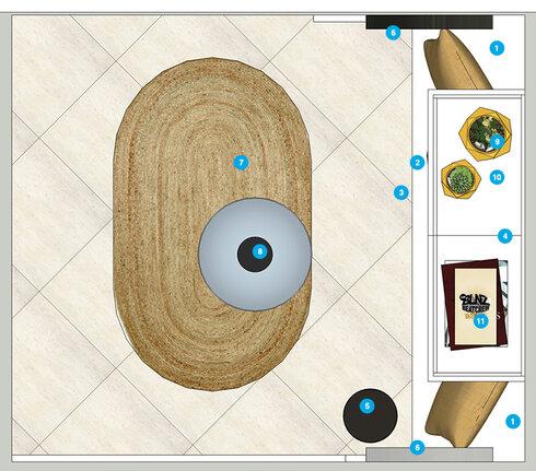 Online Designer Hallway/Entry Floorplan